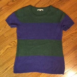 Gap green & purple shortsleeved sweater size M